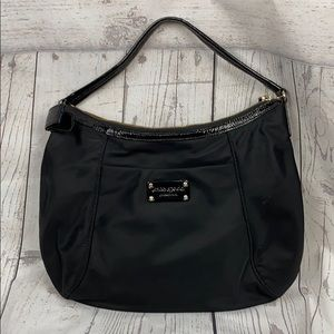 KATE SPADE Black Nylon Side Bow Hobo Shoulder Bag